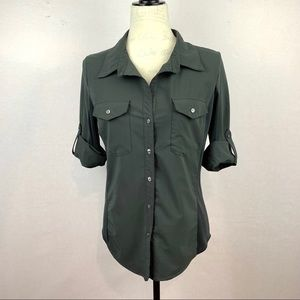 Lucy Button-up Gray Shirt Size L